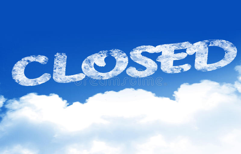 Download Closed stock illustration. Image of service, promotional - 33825029