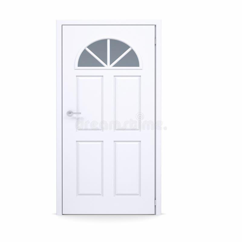 Closed White Door Stock Photography