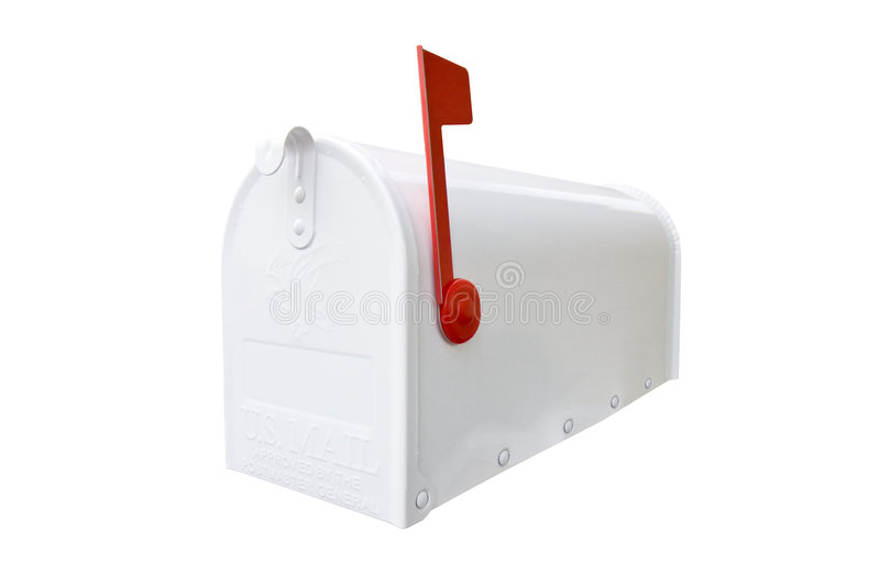 Closed White Mailbox stock photo Image of post package 5588898