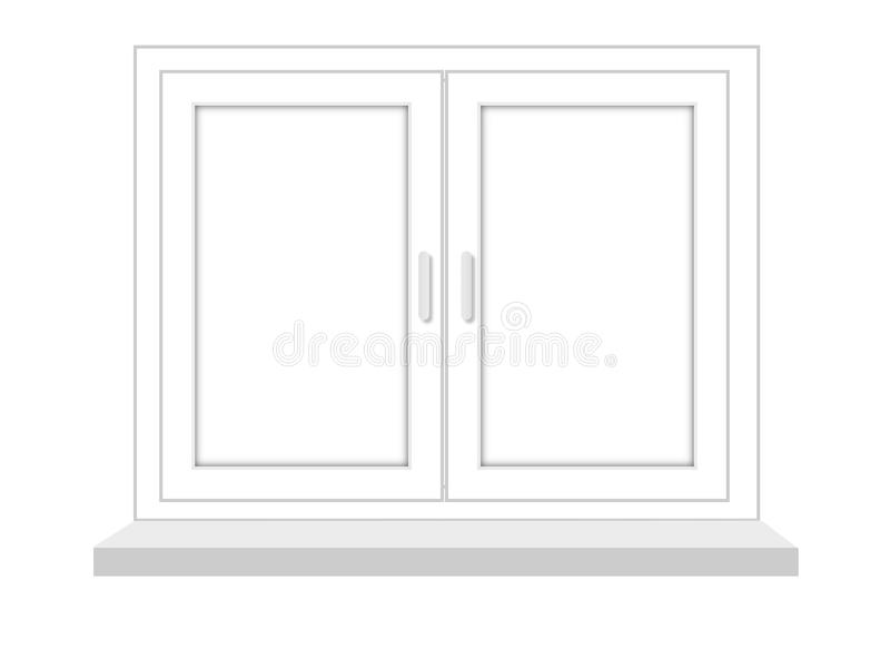 Download Closed Window On A White Background, It Is Isolated Stock Illustration - Image: 31343739