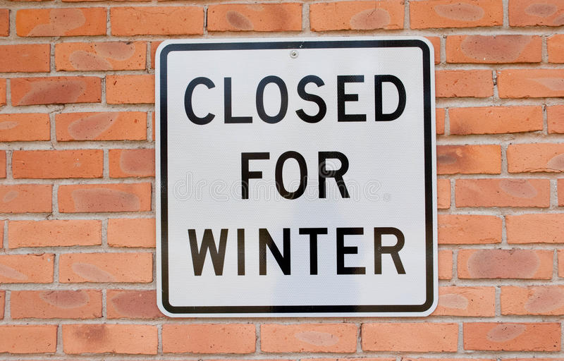 Download Closed for Winter stock photo. Image of closed, sign - 27877536