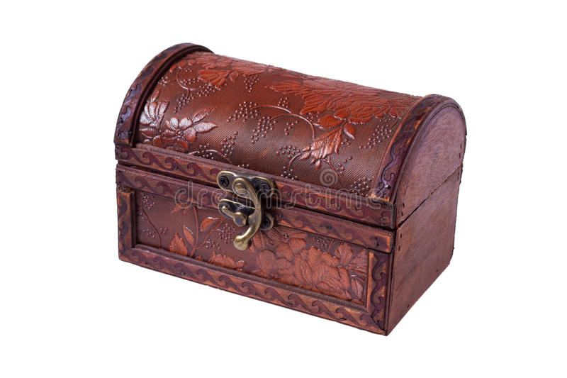 Download Closed wooden chest stock image. Image of wooden, background - 24157191