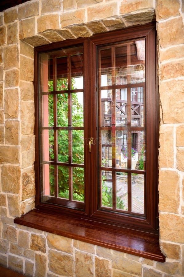Download Closed Wooden Plastic Vinyl Window In Old Interior Stock Photo - Image: 83712224