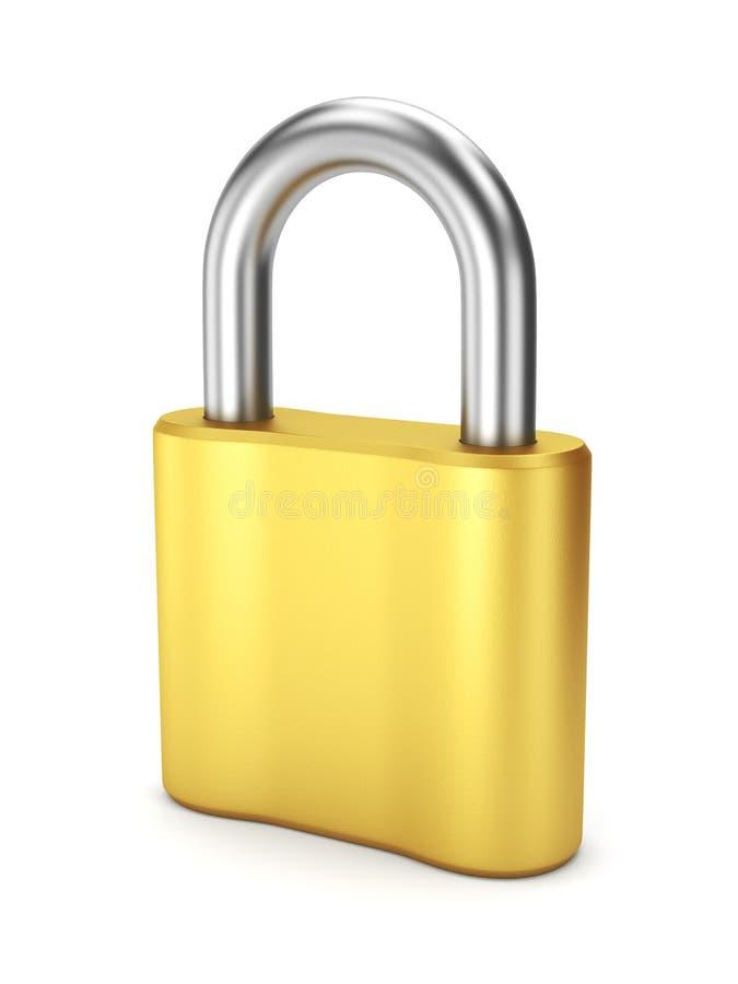 Closed yellow metal lock