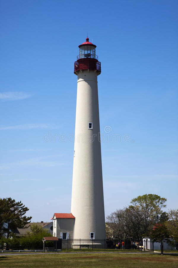 Closer view of Cape May Lighthouse stock photos