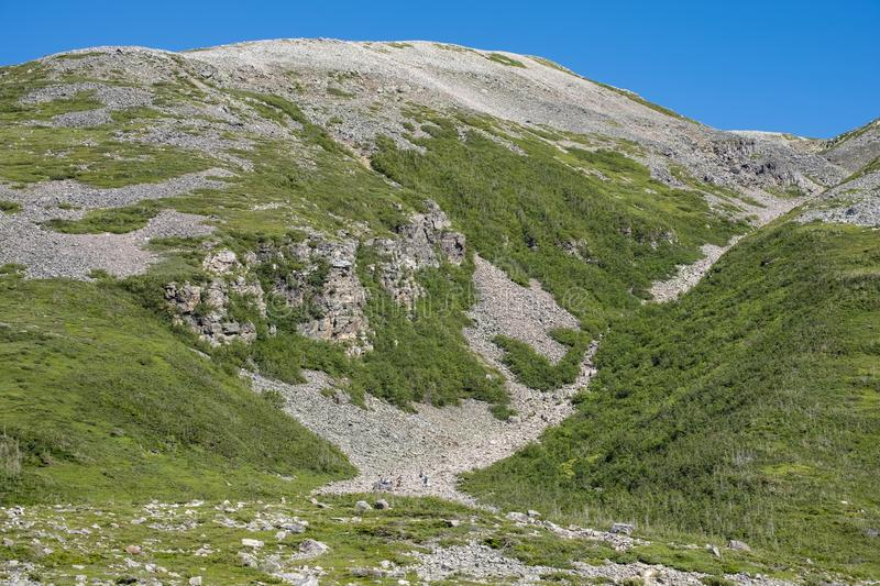 Closer View of Gros Morne Mountain in Gros Morne National Park royalty free stock images