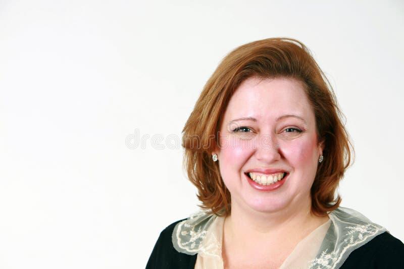 closesup uśmiechnięta kobieta fotografia stock