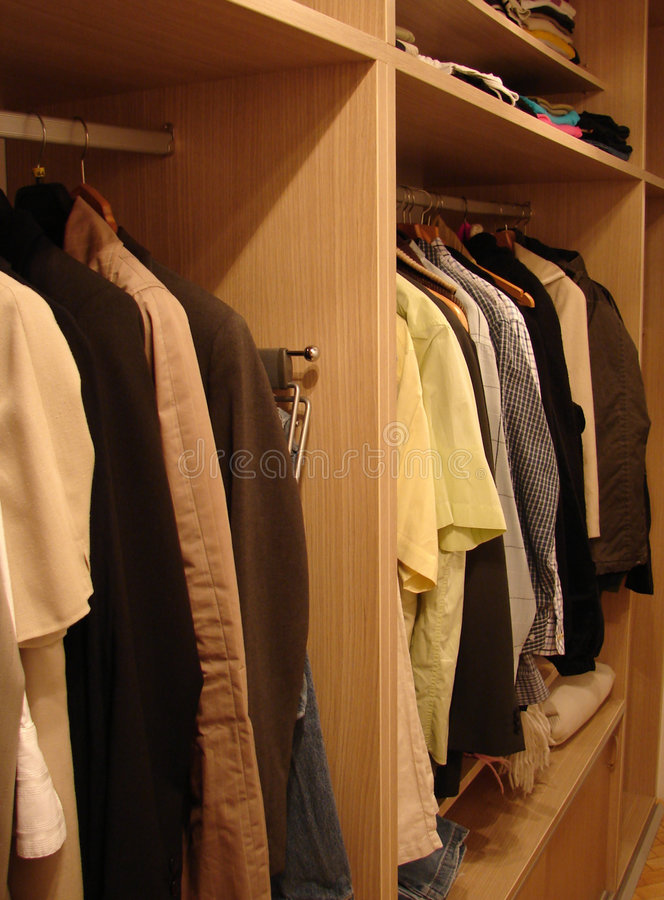 Closet 02 stock photo