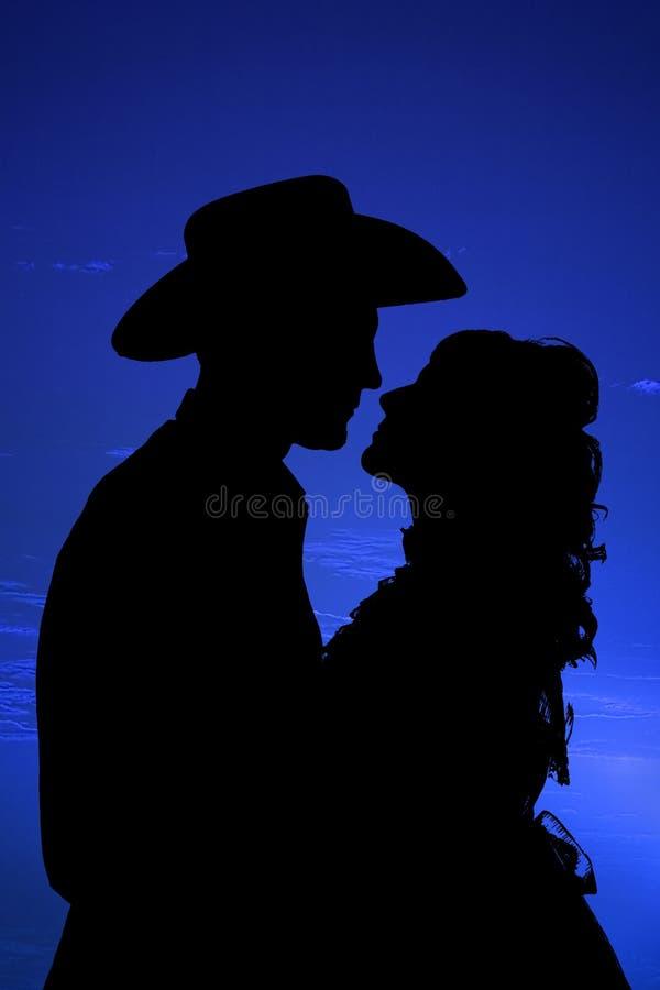 closeupöga som ser silhouetten royaltyfria bilder