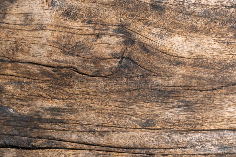 Closeup. Aged Solid Old Wood Slat Rustic Shabby Brown Background. Grunge Faded Wood Board Panel Structure. Hardwood Dark Weathered. Timber Surface royalty free stock photo