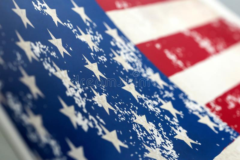 Closeup of american USA flag, , united states of america royalty free stock images