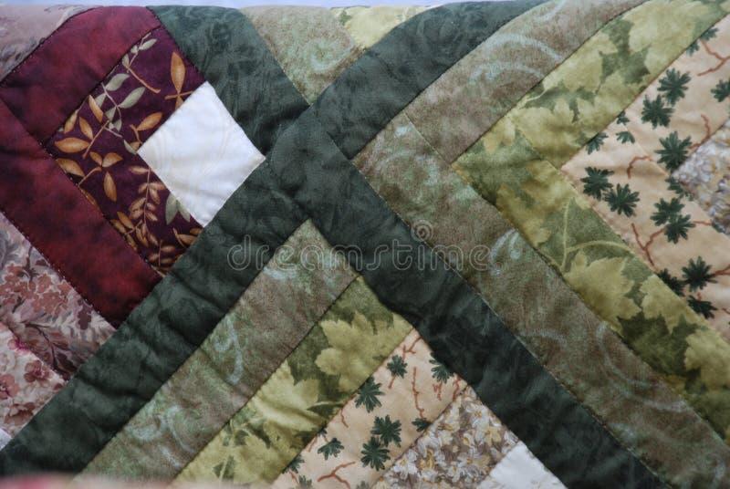 Closeup of Amish Quilt stock image