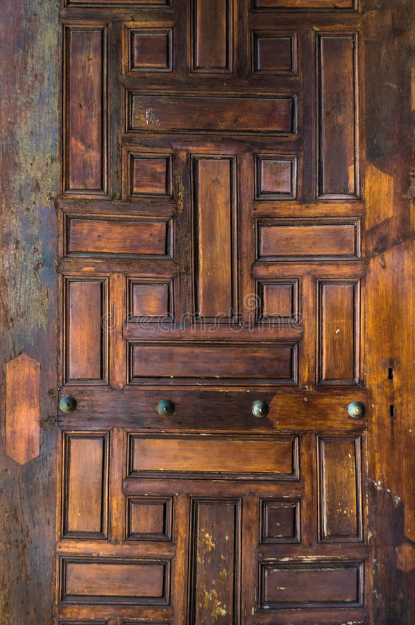 Closeup of ancient wooden doors in Istanbul. Turkey royalty free stock image