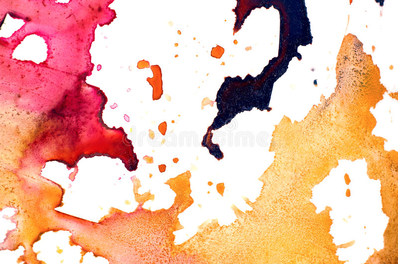 Closeup of artist's watercolor palette royalty free stock images