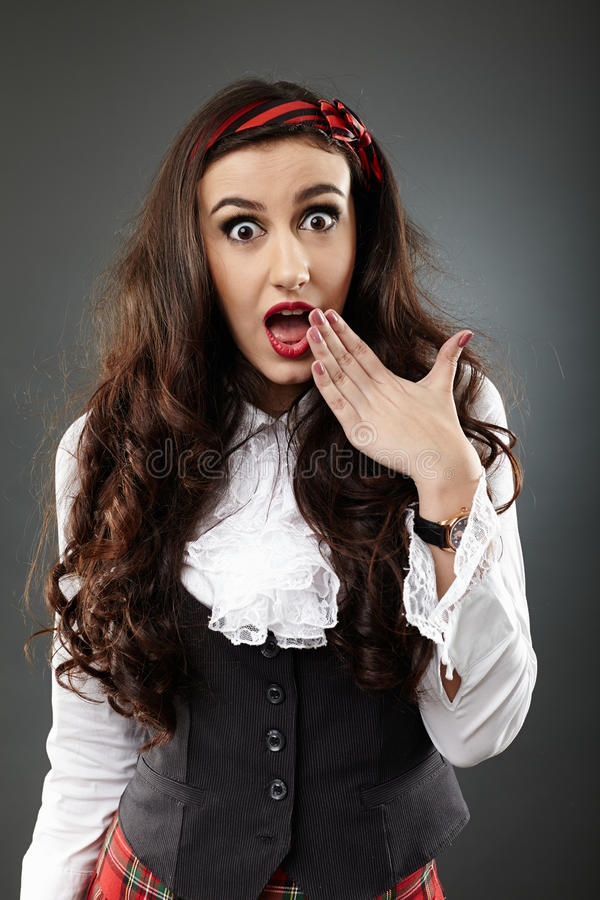 Download Closeup Of An Astonished Girl Stock Image - Image: 36664027