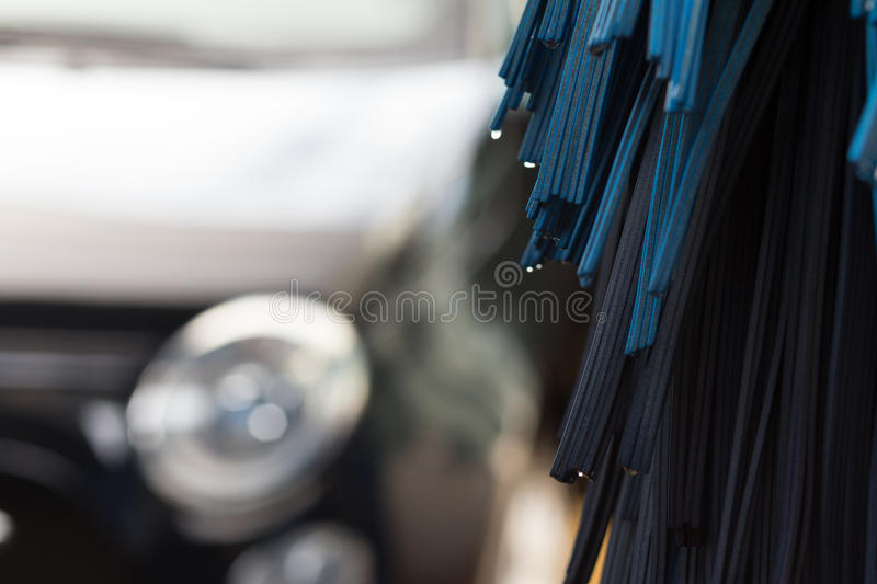 Closeup of automatic carwash machine stock images