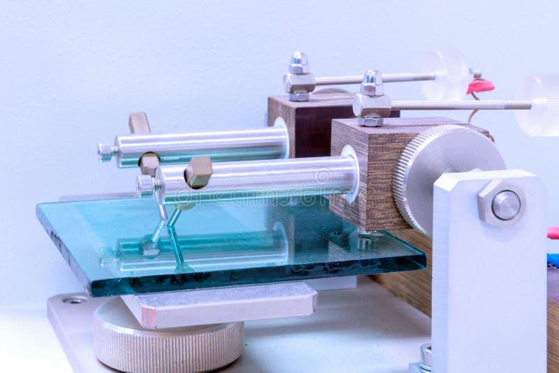 Closeup automatic intelligent measurement machine stock photography