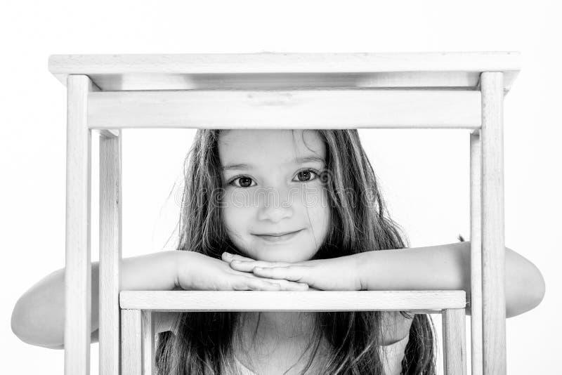 Closeup av att le för liten flicka arkivbild