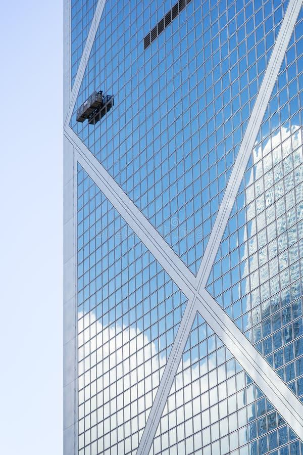 Closeup av banken av det Kina tornet i Hong Kong arkivbilder
