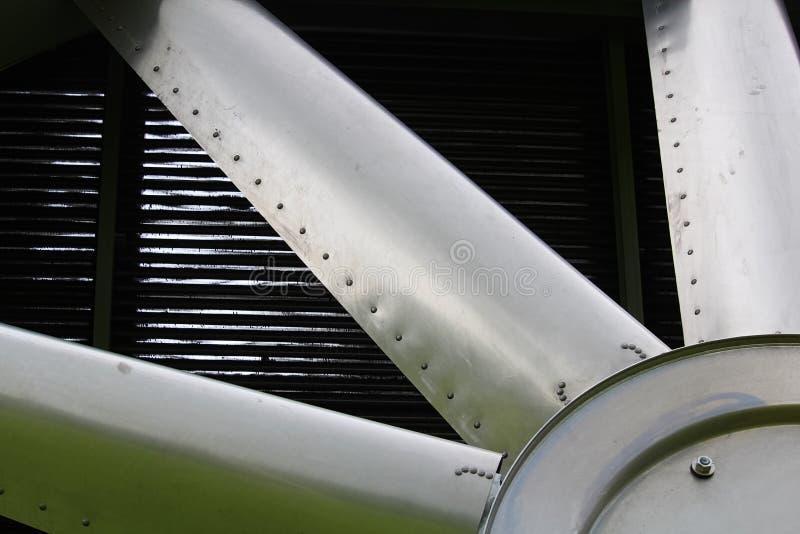 Closeup av blad på en industriell kylare arkivfoton