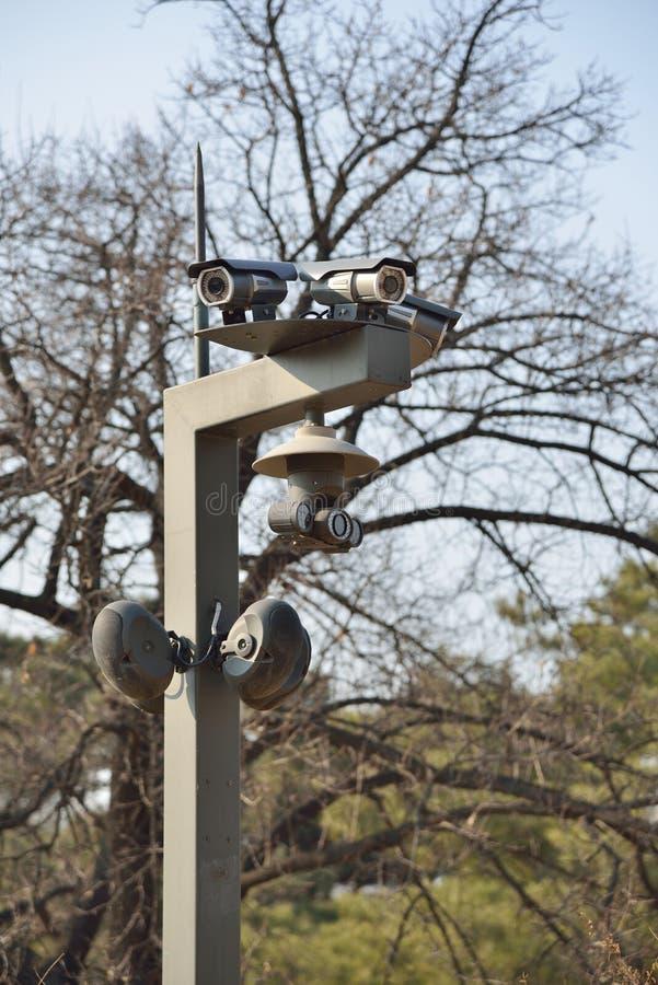 Closeup av CCTV för Infrared tre arkivbilder