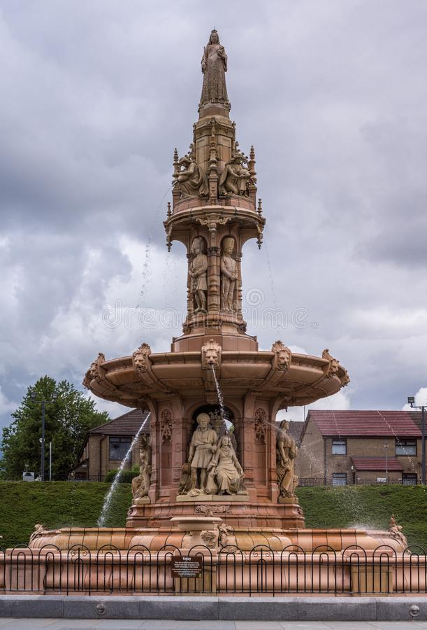 Closeup av den Doulton springbrunnen, Glasgow Scotland UK arkivbild