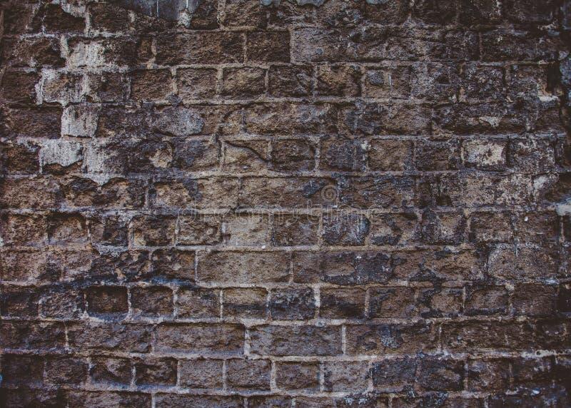 Closeup av den gamla gråa mörka sandstenväggen royaltyfri bild