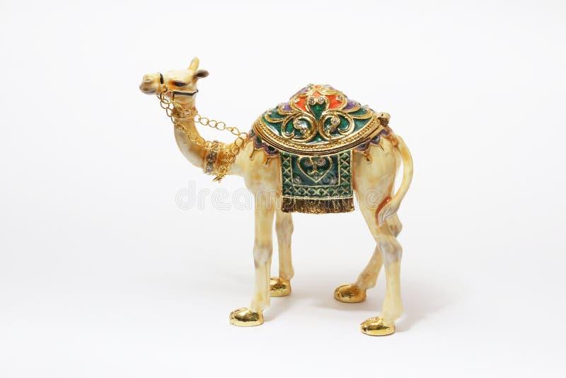 Closeup av den härliga kamelsouvenir från Dubai arkivbild