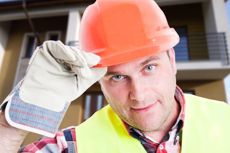 Closeup av den stiliga konstruktörn eller anställd royaltyfri foto