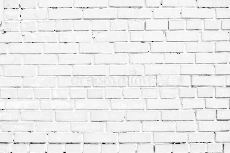 Closeup av den vita tegelstenväggen arkivfoto