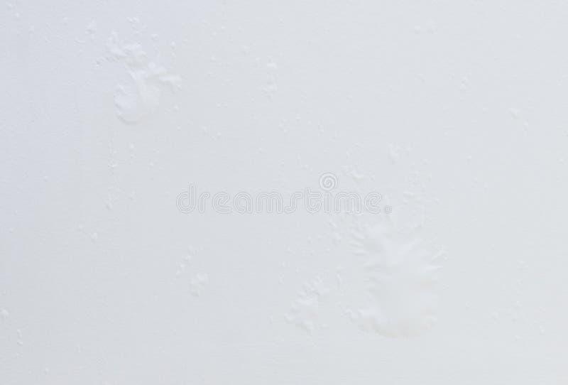 Closeup av den vita väggen som bulnad fotografering för bildbyråer