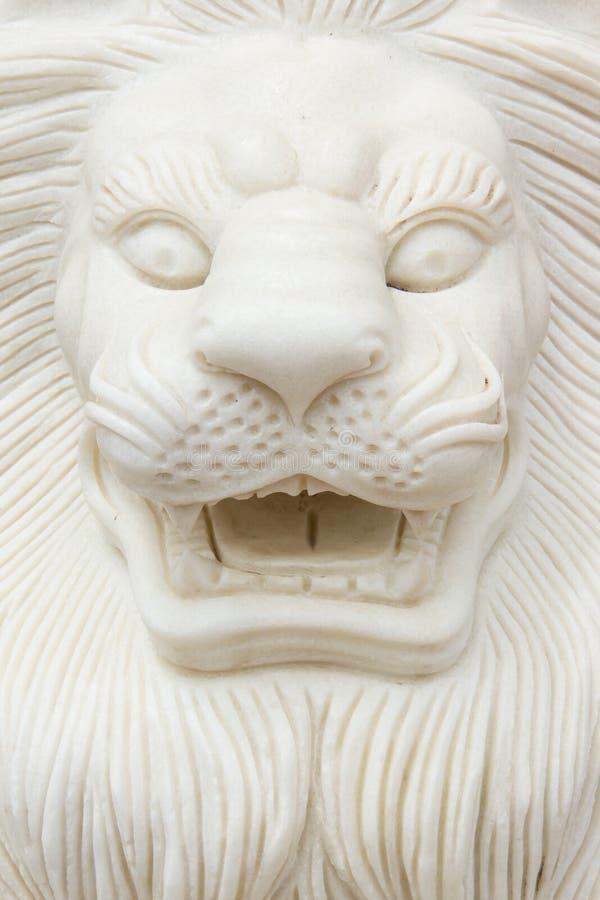 Closeup av en lejonstaty. Vietnam royaltyfri bild