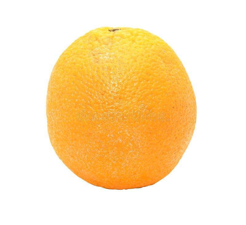 Closeup av enkla orange Sunkist på vit bakgrund arkivfoton