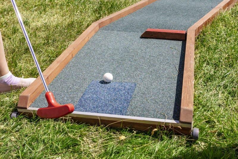 Closeup av golf för spelarelekkortkort arkivfoton
