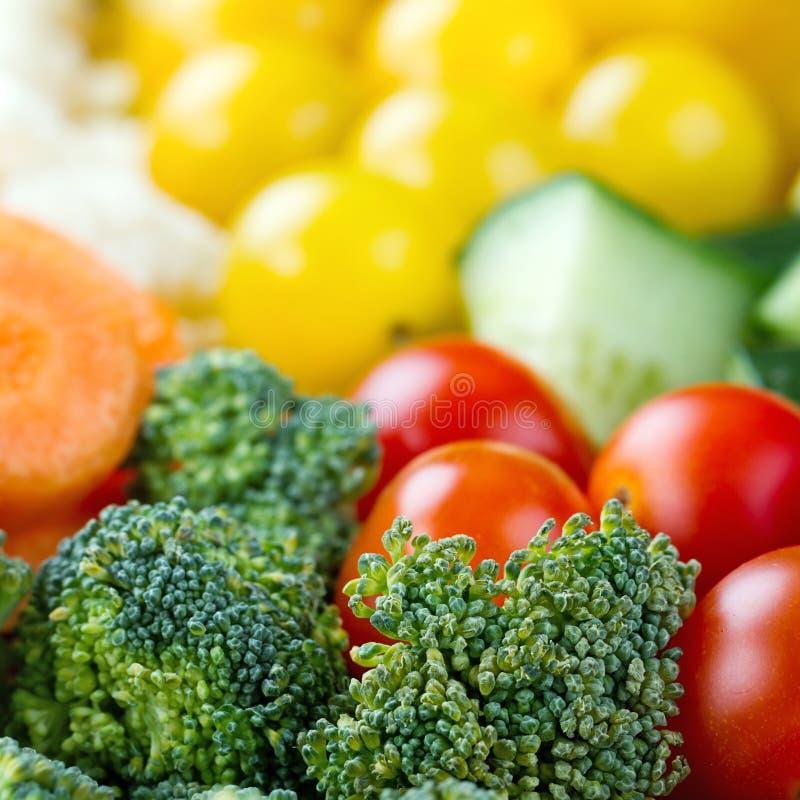 Closeup av grönsaker arkivbild