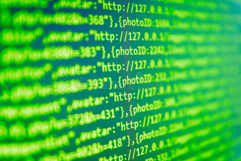 Closeup av Java Script, CSS och HTML royaltyfri foto
