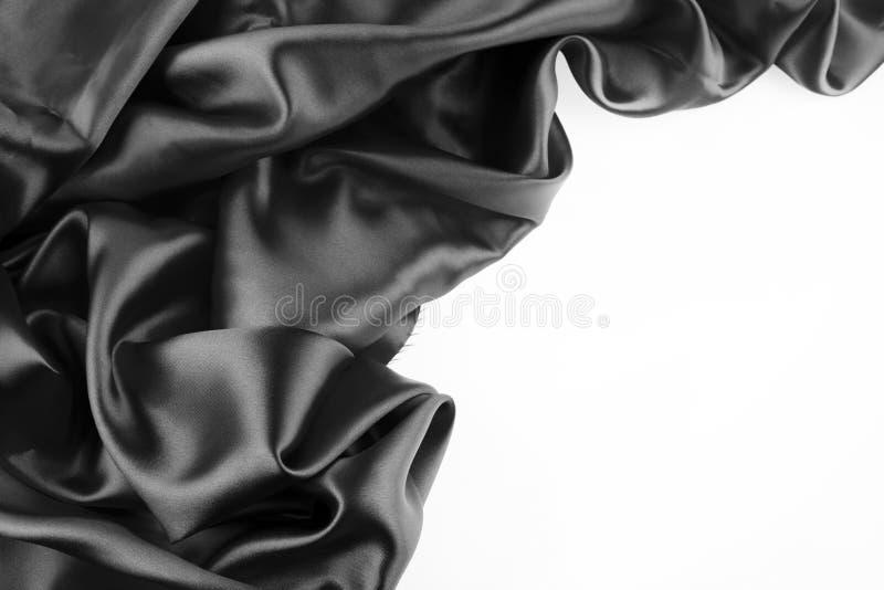 Svart silk arkivfoto