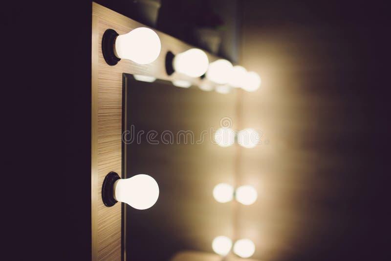 Closeup av kulor på spegeln royaltyfria bilder
