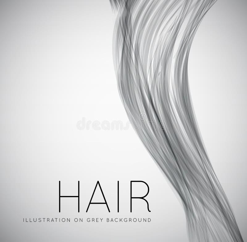 Closeup av långt mänskligt hår