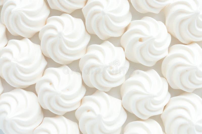 Closeup av Mini Meringues som matbakgrund arkivfoton