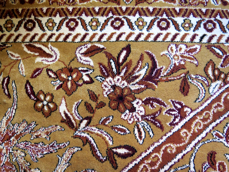 Closeup av persiska mattor royaltyfri foto