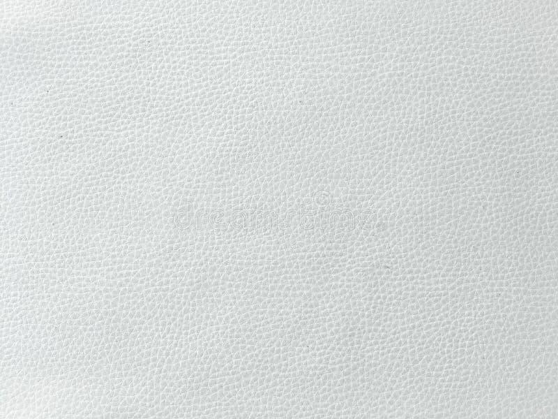 Closeup av sömlös textur för vitt läder Bakgrund med textur av vitt läder Beige lädertextur, vit kohud för bac arkivfoton