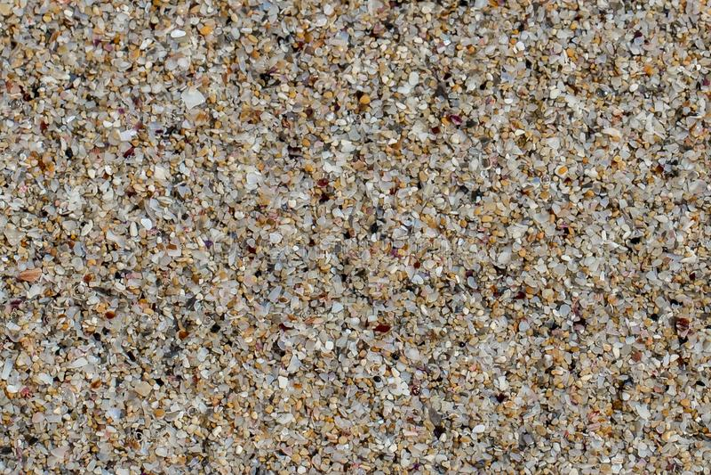 Closeup av sand, sandig bakgrund för enkel ren textur royaltyfri bild