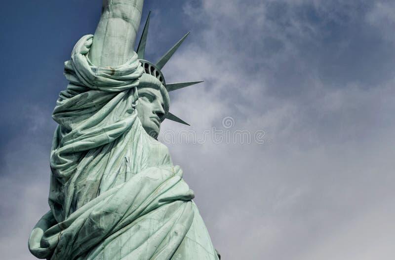 Closeup av statyn av frihet royaltyfria foton