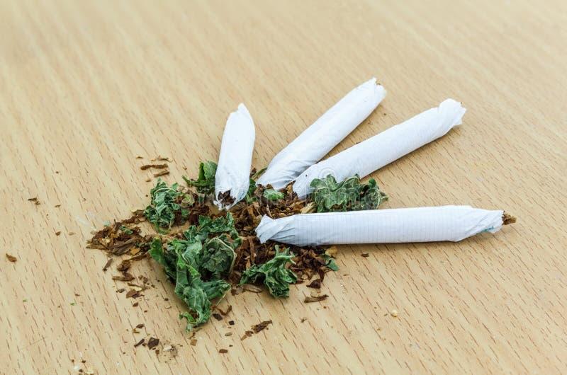 Closeup av torkad marijuana royaltyfri fotografi