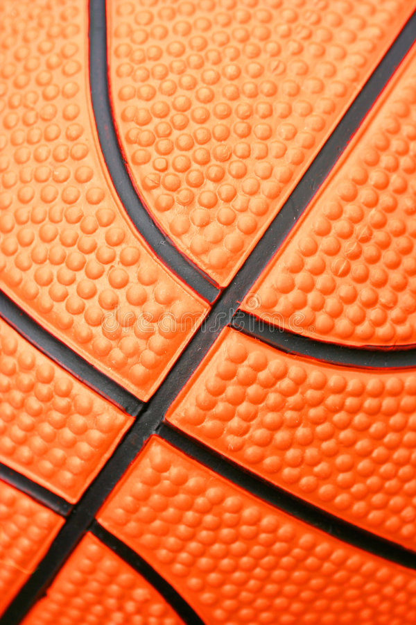 Closeup of basketball stock image