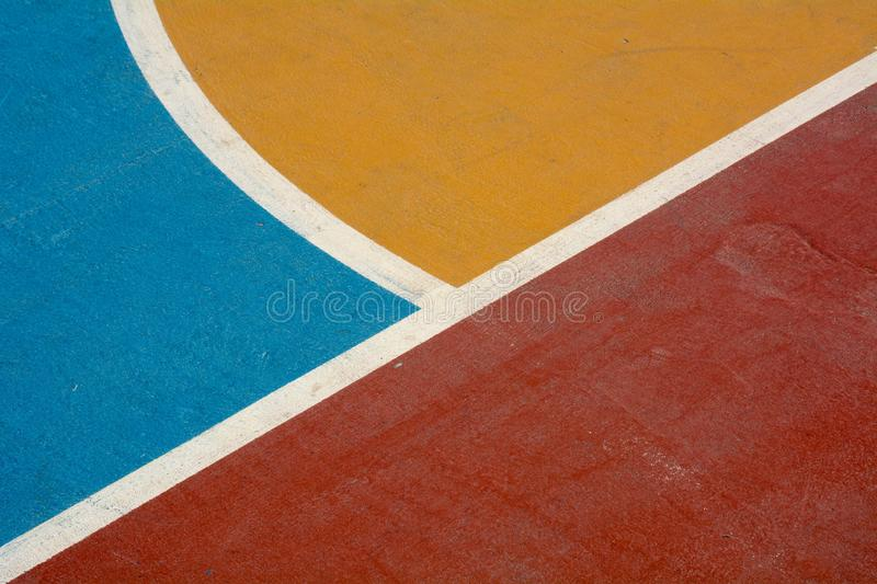 Detail of a basketball court. royalty free stock images