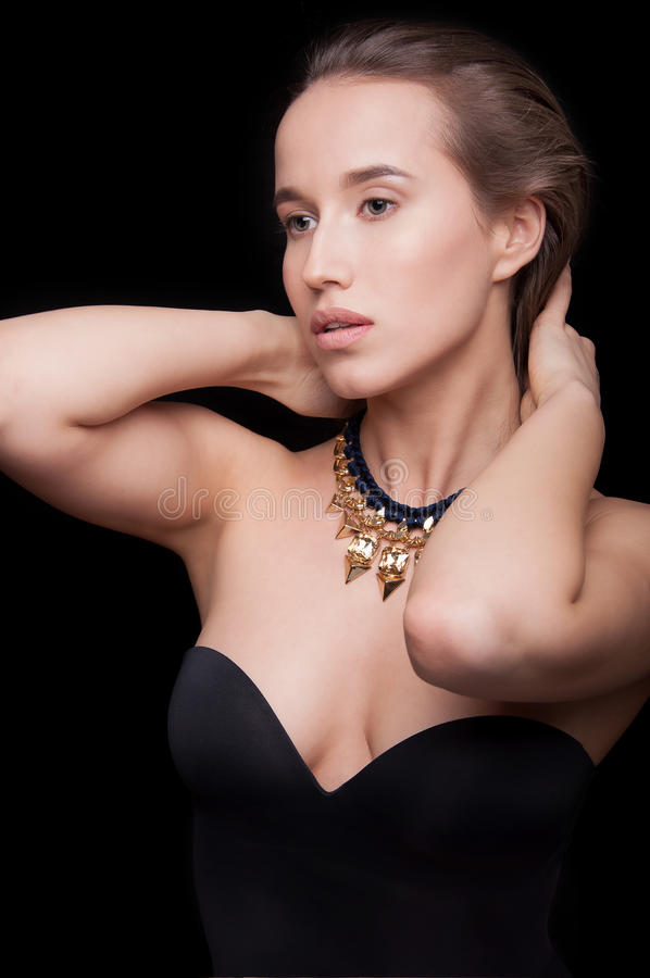 Closeup of a beautiful girl royalty free stock photos