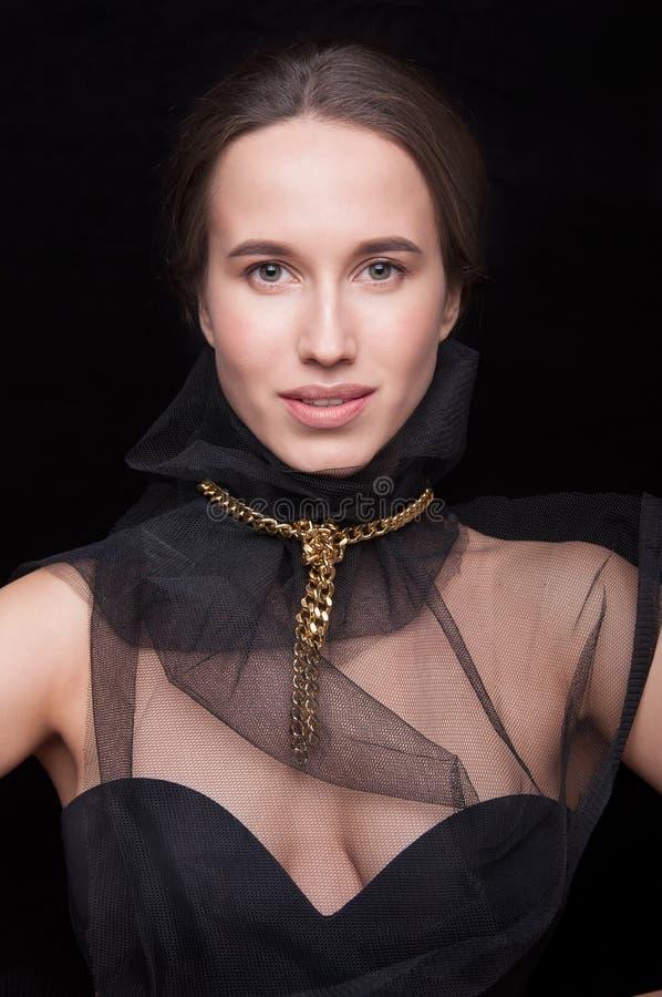 Closeup of a beautiful girl royalty free stock image