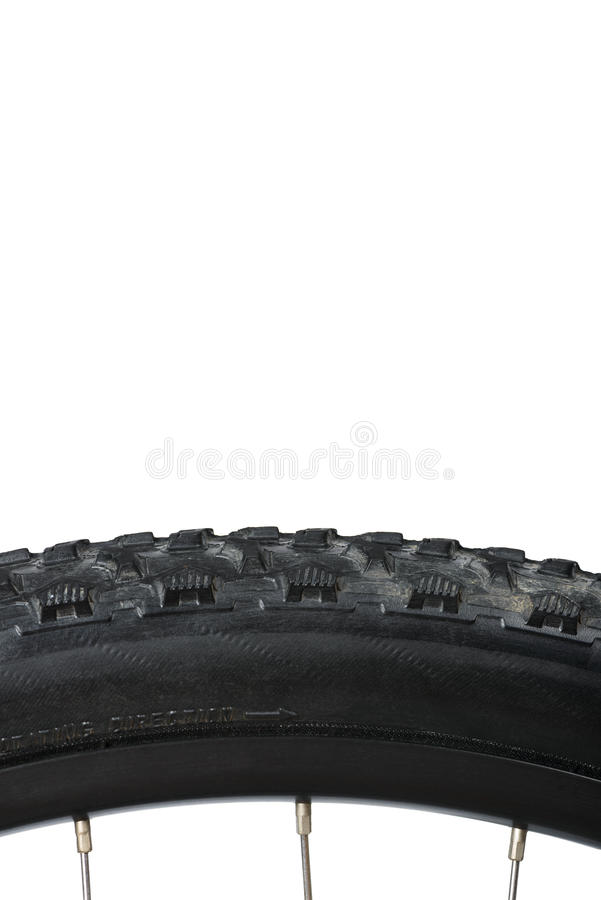 Closeup of bike tire royalty free stock photos